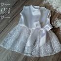 Alkalmi ,keresztelő kislány ruha 62-es,   Alkalmi-   keresztelő kislány ruha Felso rész...