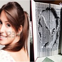 Arckép után készült egyedi könyvszobor., Dekoráció, Esküvő, Otthon, lakberendezés, Szív alakú mintával készítem ezt a könyvszobrot, a szívben a kívánt név, felirat ábrázol..., Meska