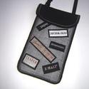 Unisex nyakba-akasztható mobil tok  Plus-os méretű telefonokhoz  , Táska, Pénztárca, tok, tárca, Mobiltok, Egyedi,igényesen elkészített mobiltartó, telefontok, újrahasznosított cimkékkel applikálva. Tökélete..., Meska
