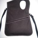 Aszimmetrikus cordura kistáska oldaltáska fekete esőálló , Egyedi igényesen elkészített cordura táska az ...