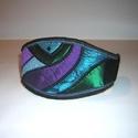 Textil Art design karkötő-csuklópánt, Egyedi, igényesen elkészített karkötő. A mér...