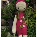 AKCIÓ!!! Lalylala virágbaba - horgolt játék, Baba-mama-gyerek, Játék, Játékfigura, A virágzó kertekben nézelődve találhatsz rá erre a szende virágbabára. Bájos, puha, kedves ..., Meska