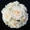 Gyengéd szépség menyasszonyi csokor, Esküvő, Esküvői csokor, Virágkötés, Magával ragadott ez a rózsa,egyszerűen gyönyörű. A csokor is ilyen lett,tiszta,elegáns,ünnepélyes s..., Meska