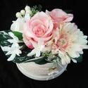 Gerberás virágbox, Otthon & lakás, Esküvő, Anyák napja, Ünnepi dekoráció, Dekoráció, Esküvői csokor, A színek harmóniája teszi elegánsá ezt a virágboxot.Tartós emléke maradhat egy esküvőnek, születésna..., Meska