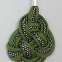 Kelta csomózású Kígyó paracord nyaklánc, Ékszer, Nyaklánc, Csomózás, A paracord medál egy szép csomózással jött létre, amit egy antik ezüst színű lánchoz kapcsoltam. A ..., Meska