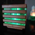 Bambusz led lámpás, Otthon & Lakás, Lámpa, Hangulatlámpa, Famegmunkálás, Ez az egyedi lámpás az egyik legsokoldalúbb és szépséges mintázatú fafajtából, bambuszból készült. ..., Meska