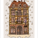 """""""Zoknik háza"""", számozott művészi nyomat, print, A5, Képzőművészet, Otthon, lakberendezés, Illusztráció, Grafika, Festészet, Limitált számú digitális reprodukció saját grafikámról, melyből mindössze 120 db nyomat készült.  F..., Meska"""