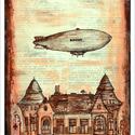 Zeppelin - számozott művészi nyomat, print, saját grafikámról, A4 méretben, Otthon & lakás, Képzőművészet, Illusztráció, Lakberendezés, Grafika, Limitált számú, sorszámozott digitális reprodukció saját grafikámról, melyből mindössze 120 db nyoma..., Meska