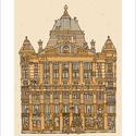 Anker palota, számozott nyomat, illusztráció, print, A5, Képzőművészet, Otthon, lakberendezés, Illusztráció, Grafika, Festészet, Limitált számú digitális reprodukció saját grafikámról, melyből mindössze 120 db nyomat készült.  F..., Meska
