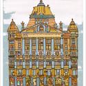 Anker Palota - illusztráció, print saját grafikámról, A4 méretben, Otthon & lakás, Képzőművészet, Illusztráció, Lakberendezés, Limitált számú digitális reprodukció saját grafikámról, melyből mindössze 120 db nyomat készült.  FA..., Meska