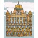 Anker palota - illusztráció, számozott digitális reprodukció, print, saját grafikámról, A5 méretben, Otthon & lakás, Képzőművészet, Illusztráció, Grafika, Lakberendezés, LIMITÁLT számú digitális reprodukció saját grafikámról, melyből mindössze 120 db nyomat készült.  An..., Meska