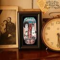 Bajusz Őr Pár: A békés otthon védelmezői, Szignózott, keretezett nyomat, 6cm x11 cm, Képzőművészet, Otthon, lakberendezés, Illusztráció, Falikép, Fotó, grafika, rajz, illusztráció, Mindenmás, Keretezett művészi nyomat saját grafikámmal.  Kerettel együtt.  Hátoldalán használati utasítással. ..., Meska