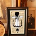 Bajusz Őr: A békés otthon védelmezője, Szignózott, keretezett nyomat, 10cm x16 cm, Képzőművészet, Otthon, lakberendezés, Grafika, Illusztráció, Fotó, grafika, rajz, illusztráció, Mindenmás, Bajusz Őr A békés otthon védelmezője  Használati Útmutató: 1. Helyezd a Bajusz Őrt a lakás legszoci..., Meska