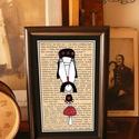 Bajusz Őr: A békés otthon védelmezője, Szignózott, keretezett nyomat, 10cm x16 cm, Otthon, lakberendezés, Képzőművészet, Falikép, Illusztráció, Fotó, grafika, rajz, illusztráció, Mindenmás,  Bajusz Őr A békés otthon védelmezője  Arra ügyel, hogy senkivel ne akaszd össze a bajuszt:)  Haszn..., Meska