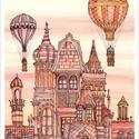 Budapest építése - számozott művészi nyomat, illusztráció, print saját grafikámról, A4 méretben, Otthon & lakás, Képzőművészet, Illusztráció, Lakberendezés, LIMITÁLT számú digitális reprodukció saját grafikámról, melyből mindössze 120 db nyomat készült.  FA..., Meska