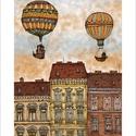 Ferenc körút 1 -  számozott művészi nyomat, print, A5, Képzőművészet, Otthon, lakberendezés, Illusztráció, Grafika, Festészet, Limitált számú digitális reprodukció saját grafikámról, melyből mindössze 120 db nyomat készült.  F..., Meska