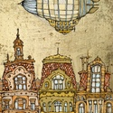 Lesd Zeppelin - számozott művészi nyomat, print, A5, Képzőművészet, Otthon, lakberendezés, Illusztráció, Grafika, Festészet, LIMITÁLT számú digitális reprodukció saját grafikámról, melyből mindössze 120 db nyomat készült.  F..., Meska