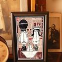 Bajusz Őr Pár: A békés otthon védelmezői, szignózott, keretezett nyomat, Otthon & lakás, Képzőművészet, Illusztráció, Lakberendezés, Dekoráció, Ünnepi dekoráció, Szerelmeseknek, Keretezett művészi nyomat a békés otthon kedvelőinek. Saját grafikámmal. Kerettel együtt. A kép háto..., Meska