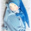 Szívecskés manócska- alvókendő, Baba-mama-gyerek, Játék, Baba játék, Játékfigura, A teste 25x25 cm, Meska
