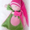Alvókendő, Baba-mama-gyerek, Játék, Játékfigura, Baba, babaház, Alvókendő kicsiknek bébiplüssből., Meska