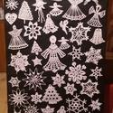 Horgolt karácsonyi díszek, Dekoráció, Karácsonyi, adventi apróságok, Ünnepi dekoráció, Karácsonyfadísz, Horgolás, Kézzel horgolt horgoló fonálbol, Meska