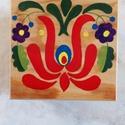 Kézzel festett doboz, Magyar motívumokkal, Otthon, lakberendezés, Tárolóeszköz, Doboz, A dobozt saját kezűleg festettem. A doboz mérete  15X15X7 cm. , Meska