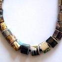 Idill nyaklánc újrahasznosított anyagból, Idill: görög eredetű szó, azt jelenti kép. A ...