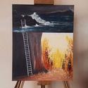 """""""Mit rejt a zord felszín?"""", Képzőművészet, Festmény, Akril, Festészet, Akril festmény feszített 40x60 cm vásznon. A fotón látható kép már elkelt, de megrendelés esetén rö..., Meska"""
