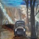 """""""November"""", Képzőművészet, Festmény, Akril, Akril festmény 40x40 cm feszített vászonra.  M. Andrea, Meska"""