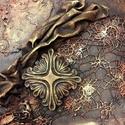 Fantázia, Dekoráció, Képzőművészet, Festmény, Vegyes technika, Festészet, Horgolás, 20 x 20 cm feszített vászonra készült kép. M. Andrea, Meska
