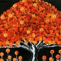 """"""" Boldogság-fa"""" , Képzőművészet, Festmény, Akril, Méret, anyag, technika :   50 x 40 cm, feszített vászon, akril festmény.  Címkék: festmény, akril, h..., Meska"""