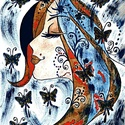 Szent Iván-éj tündére , Képzőművészet, Festmény, Akvarell, A/3-as, ( 30 x 40 cm ) ,  300-as Canson akvarell lap, akvarell-vízfesték.  Címkék: festmény, akvarel..., Meska