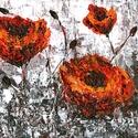 Káoszban született , Képzőművészet, Festmény, Akril, Festészet, 30 x 25 cm-es OSB lap (ami 1,5 cm vastag ) , akril, festőkés. Címkék: festmény, akril, táj, szürreá..., Meska