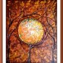 Ősz - három fás , Képzőművészet, Festmény, Akril, Festészet, 44 x 51 cm-es felületkezelt farost alap, akril festés, festőkés technikával.  Őszi hangulatú, kissé..., Meska