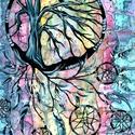 Álomfogó , Képzőművészet, Festmény, Akril, Akvarell, 33 x 47 cm-es, 200-as Canson akvarell lapon, akvarell és akril festés, eredeti festés, nem repro.  E..., Meska