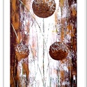 Gömbös virágosság , Képzőművészet, Festmény, Akril, 37 x 68 cm-es farost, akril festés, festőkés technikával.  Címkék: festmény, akril, fantasy, hangula..., Meska
