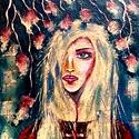 """""""Áldás """", Képzőművészet, Festmény, Akril, 45 x 75 cm-es OSB lapon  akril festés,  fedőlakk, festőkés használattal.  Címkék: festmény, akril, p..., Meska"""