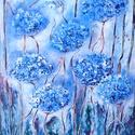 Tündérkert , Képzőművészet, Festmény, Akril, 40 x 50 cm-es felületkezelt faroston akril festés, festőkés, ecset használatával.  Fantázia f..., Meska