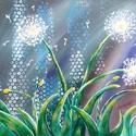 Pitypangosság napfényben , Képzőművészet, Festmény, Akril, Festészet, 50 x 40 cm-es farost készült akril festés.   Címkék: festmény, akril, növények, absztrakt, hangulat..., Meska