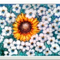 Napra-forgó , Képzőművészet, Festmény, Akril, Festészet, 50 x 40 cm-es farostra készült  akril festés.   Kisütött a nap, beleraktam a tavaszba  egy kicsit :..., Meska