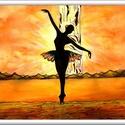 A világ szélén táncolva... , Képzőművészet, Festmény, Akvarell, 40 x 30 cm-es, 300-as Canson akvarell lapon , akvarell-akril-tus festés.  Referencia a korábban ideh..., Meska