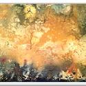 Virág fantáza , Képzőművészet, Festmény, Akril, 30 x 60 cm-es vásznon , akril festés, ecsetekkel.  Kipróbáltam csak úgy szabadon folyni hagyni ..., Meska