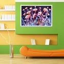 Narancsos virágos , Képzőművészet, Festmény, Akril, 62 x 41 cm-es vastag farostra készült akril festés, festőkés technikával, így szép és mély textúráva..., Meska