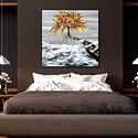 Szélén , Képzőművészet, Festmény, Festmény vegyes technika, Festészet, Eredeti, saját ötletű akril festés 45 x 35 cm-es, vakrámára feszített vászon nyomata, kiváló minősé..., Meska