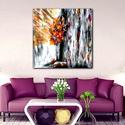 Fény a szobában , Képzőművészet, Festmény, Festmény vegyes technika, Festészet, Eredeti, saját ötletű és festésű képem 35 x 45 cm-es vakrámára feszített vászonra készült nyomata. , Meska