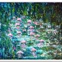 Tavirózsák , Képzőművészet, Festmény, Akril, Festészet, 55 x 50 cm-es faroston, Gesso alap, akril festés festőkéssel, vízbázisú lakk fedőréteg.  Egyedi ötl..., Meska