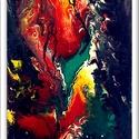 """"""" Vízi lét 2. """" , Képzőművészet, Festmény, Akril, 42 x 142 cm-es OSB lapon, akril festés, lakk fedőréteggel.  Címkék: festmény, akril, növények, abszt..., Meska"""