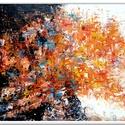 Örök körforgás , Képzőművészet, Festmény, Akril, 60 x 40 cm-es faroston akril festés, festőkéssel, lakk fedőréteggel ellátott.  Hangulatkép, i..., Meska
