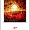 Falinaptár - 12 + 1 lapos - A/3-as méretben , Naptár, képeslap, album, Naptár, Magam festette munkáim-festményeim nyomatait tartalmazó falinaptár :) , most saját ízlés szerint öss..., Meska