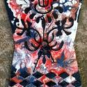 """"""" Homokórás fantázia """" - falióra """", Képzőművészet, Otthon, lakberendezés, Festmény, Falióra, óra,   18 x 26 cm-es falapra készült saját ötletű kézi fantázia festés, akril festékkel, gesso alapozássa..., Meska"""
